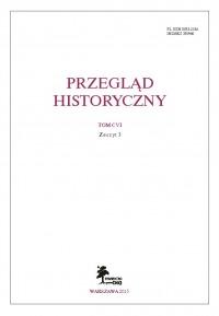 Okładka Przeglądu Histoycznego z. (2015).